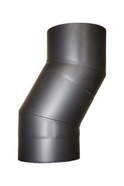 EW/150 Kachelpijp Versleping 2 Bochten 30° graden Kleur: Antraciet