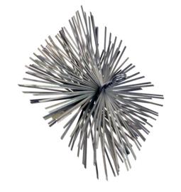 Staalborstel vierkant 180 x 180 mm