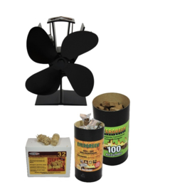 Ventilator en aanmaakblokjes