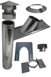 Blokhutknaller: Complete set 200 mm schuin pannendak