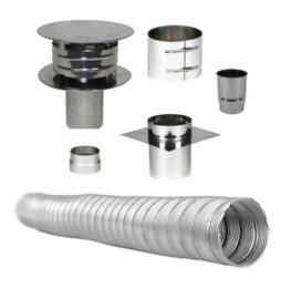 Compleet Flex Enkelwandig 80 mm (standaard)