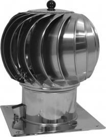 Turbowent 250mm met bodemplaat #WN-TU250CHCH