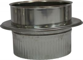 Holetherm DWØ400mm Onder-aansluitstuk + krimprand RVS #DH119714k