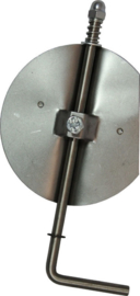 Losse smoorklep /klepsleutel 150 mm RVS