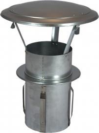 Gegalvaniseerd zelfklemmende regenkap met opklapbaar deksel Ø160mm  DA-160-OC-PT