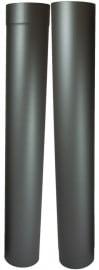 EW/Ø120mm Kachelpaspijp set 105 - 195cm (met verjonging)  Kleur: Antraciet