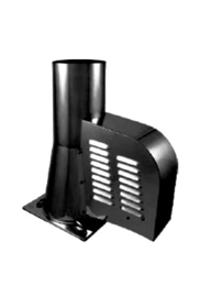 Rookgasventilator met vierkante basis Ø150mm Zwart WN-GCK150-CH-ML