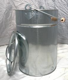 Pellet/as emmer Kleur: zink (rond met deksel)