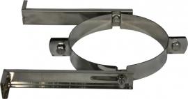 DW/Ø125-175mm Muurbeugel  RVS Blank