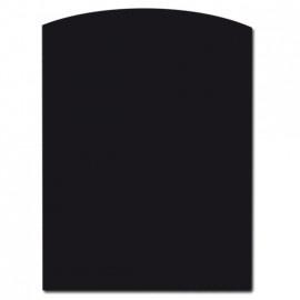 Nr 32-210   2mm Staalvloerplaat toog/ondiep halfrond  990 x 990 mm - zwart