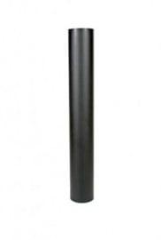 EW/130 2mm Pijp 100cm zonder verjonging - Zwart