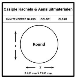 6mm Glas - Rond 850