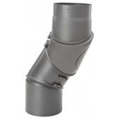 DRC EW/150 2mm Bocht verstelbaar 4 delig met luik (Kleur: Antraciet)