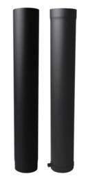 EWØ150 2mm paspijpset met verjongen 100cm - Zwart