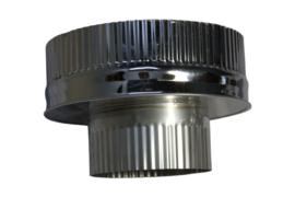 DW150/200mm  Onderaansluitstuk naar 150mm met krimprand CAM50