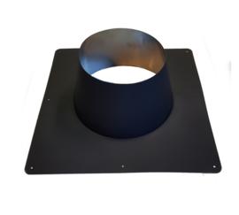 DW/200 Dakplaat Plat 0°-10°graden  Ø250 mm - Zwart