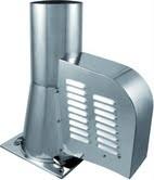 Rookgasventilator met vierkante basis  Ø150mm WN-GCK150-CH