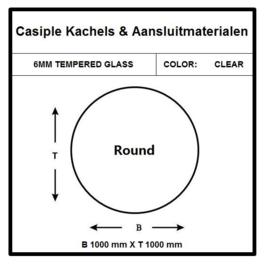 6mm Glas - Rond1000mm  CAMRD1000