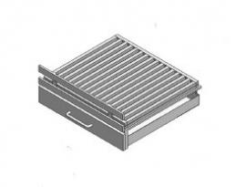 Vuurkorf modern rechtop voor 50B x 50H/100H ( Antraciet )