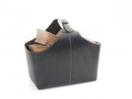 Lederhouttas - zwart  #98-210