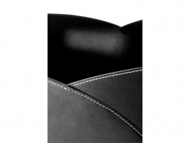 """Lederhouttas vierkant """"Umschlag"""" zwart #98-236"""