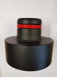 Pelletpijp verloopstuk Ø80/150mm zwart