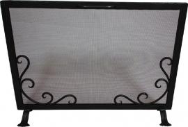 Vonkenscherm 125/408 front zwart (H:47cm ; B:65cm)