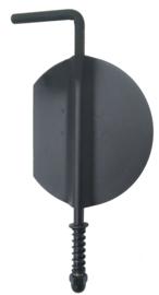 Losse smoorklep/klepsleutel 110 mm (RVS - Zwart)