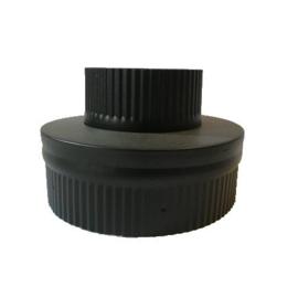 ISOTUBE Plus DW100/150mm Onderaansluitstuk   ZWART