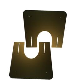 Brandseparatieplaat hellend Ø250mm - Zwart