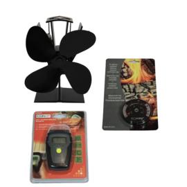 Ventilator + thermometer en vochtigheidsmeter