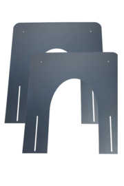 DW80/130mm brandseparatieplaat hellend - Zwart