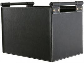 Lederhouttas vierkant - zwart #98-226