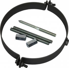 Kachelpijp muurbeugel Ø120mm gelast 2mm Kleur: grijs #TER12-521