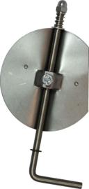 Losse smoorklep /klepsleutel 150 mm RVS TER15-512