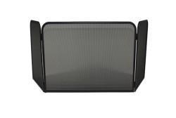 Vonkenscherm 125/420 panorama zwart (H:48cm ; B:72cm ; D:35cm)