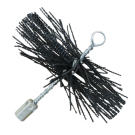 Nylonborstel rond Ø200mm zwart (soft)