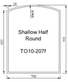 Kachelvloerplaat toog met facet 700 x 900 x 6 (Nieuw)