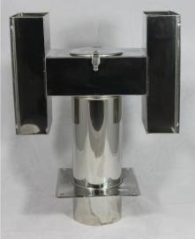 """H-type"" cowl maat 150mm met bodemplaat WHA150-CH-BASE"