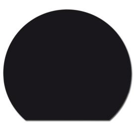 Nr 31-410 Vloerplaat glas - zwart (cirkelvormige doorsnede) 125 x 125 x 0,6cm
