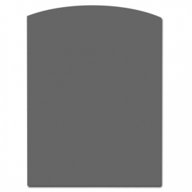 TO20-201 2mm Toog/boog staalvloerplaat  800 x 1000 Antraciet/grijs