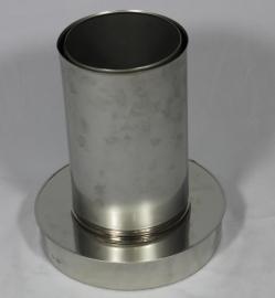 DW/Ø130mm Onder-aansluitstuk met Nisbus PREM130/00014
