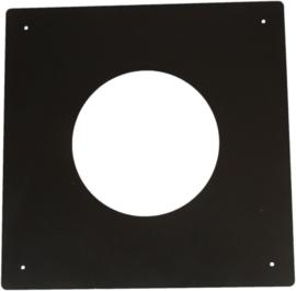 Brandseparatieplaat plat gegalvaniseerd Ø250mm - Zwart