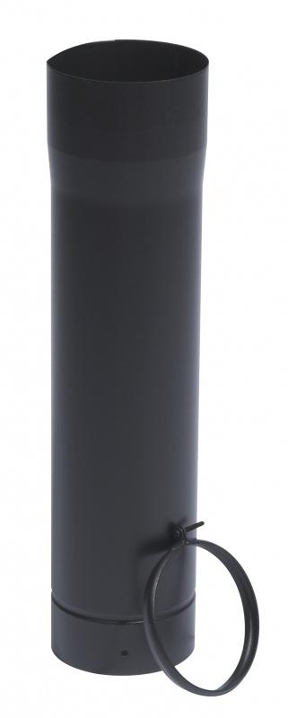 Ø150mm  Paspijp 100cm met klem  Zwart