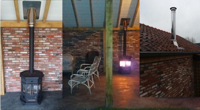 Verwonderend Complete set voor blokhut & veranda   schoorsteenwinkel RL-49
