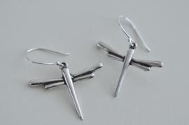 Oorbellen Zilver 925 met hanger libelle