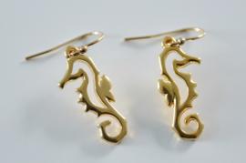 Oorbellen 14K Gold Filled met hanger zeepaard