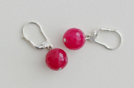 Oorbellen Sterling Zilver 925 met gemstone 'roze'