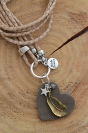 Ketting leer 'naturel'