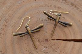 Oorbellen 14K Gold Filled met hanger libelle